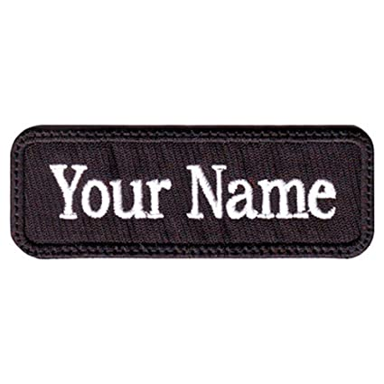 Rectangular 1 Line Custom Embroidered Name Tag with Velcro Patch (H)
