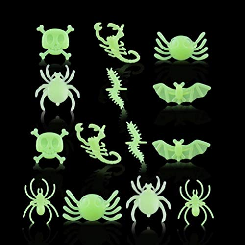 Swyss 1Set Halloween Dress Up Ring ❤ Ghost Festival Easter Props Finger Rings Party Kids Toy Plastic Spider Skull Rings Gifts