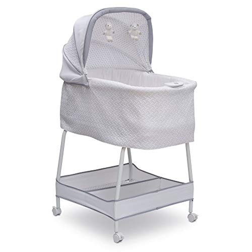 Simmons Kids Silent Auto Gliding Elite Bassinet, Basketweave