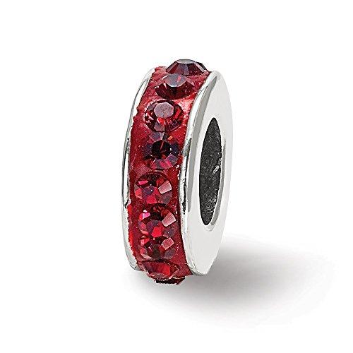 925 Sterling Silver Charm For Bracelet Jan Single Row Swarovski Crystal Bead Stone Birthstone January Fine Jewelry Gifts For Women For Her