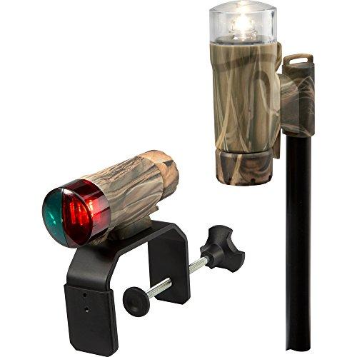 Attwood 14191-7 Clamp-On Portable Navigation Light Kit Clamp-On LED Light Kit - Real Tree Max-4 Camouflage, Adult