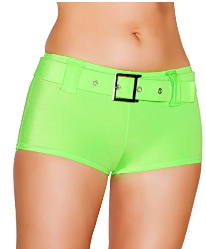 Belted Booty Shorts Hot Shorts O/S ()