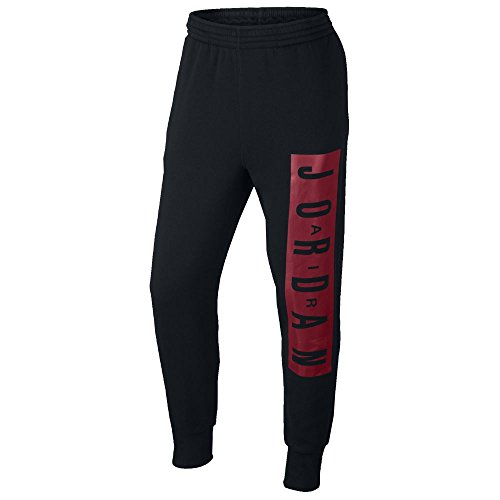 Jordan Air Jordan Jumpman Brushed Graphic WC Pants (L, Black/Gym Red)