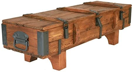 Antigua viaje Trunk mesa de café Cottage Vintage Retro de madera ...