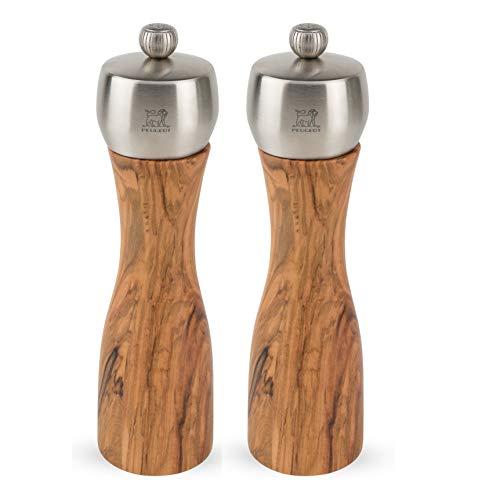 - Peugeot Fidji 8-Inch Pepper & Salt Mill Set, Olive Wood