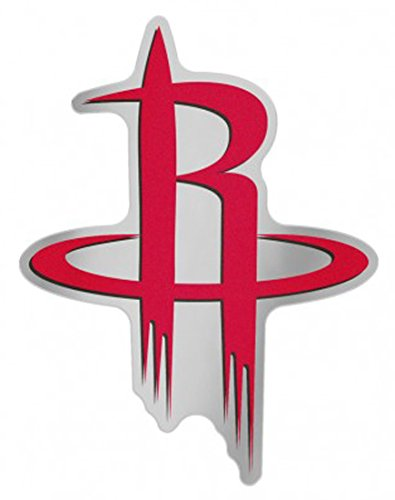 NBA Houston Rockets Auto Badge Decal, hard thin plastic, 4.5x3.5 inches by WinCraft