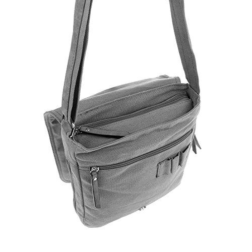 "Unisex Courierbag Star bolsa bolsa de lona bolsa de mensajero bolso de hombro cruzado hombro bolsa de tela verde Khaki 14.17""x11.81""x3.94"" Grey Cognac"