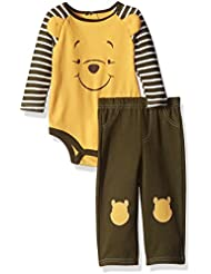 Disney Baby Boys' 2-Piece Winnie the Pooh Pant Set with 3d Knee Patches