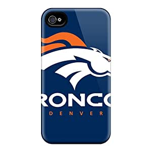 Great Hard Phone Cases For Iphone 4/4s With Support Your Personal Customized Stylish Denver Broncos Skin AaronBlanchette
