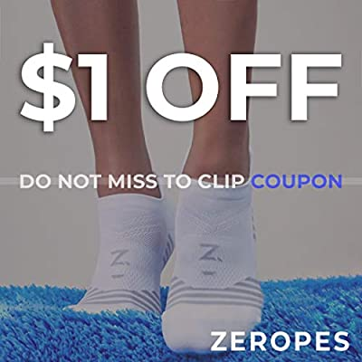 Zeropes Anti Blister No Show Running Socks Women and Men Kids Athletic (1 Pair): Clothing