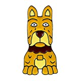 ink2055 Fashion Unisex Cartoon Pet Dog Brooch Pin Enamel Coat Jacket Denim Jewelry - 2#