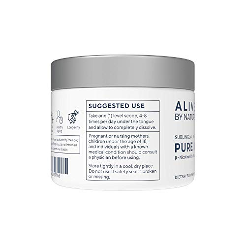 NMN - Nicotinamide Mononucleotide (12 Grams) - Certified 99% Pure Powder by alivebynature (Image #6)