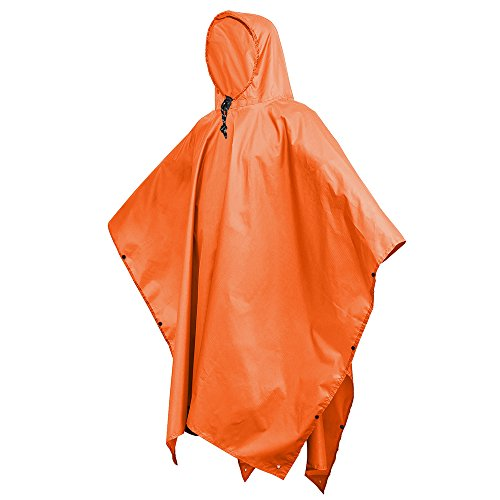 (Terra Hiker Rain Poncho, Waterproof Raincoat with Hoods for Outdoor Activities)