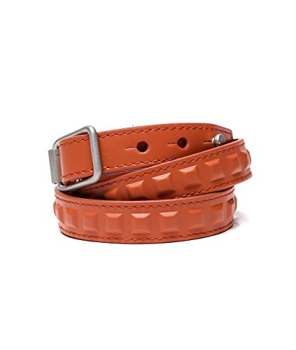 Wiberlux Balenciaga Women's Square Embossed Real Leather Bracelet