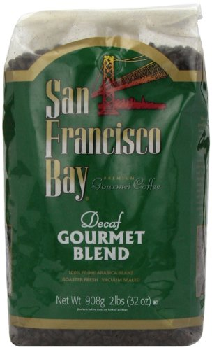 San Francisco Bay Coffee Whole Bean, Decaf Gourmet Blend Coffee, 32 Ounce