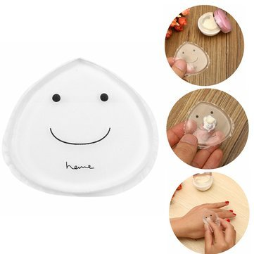 Silicone Jelly Transparent Powder Puff Smile Clear Makeup Gel Foundation Sponge Cosmetic Tools by Toyforyoustore