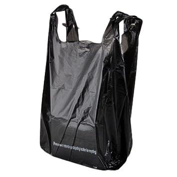 Rainbow 1/6L, 1/6-size negro plástico camiseta (funda, bolsa ...