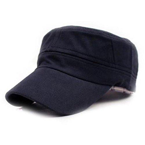 (Caps Men Women chaofanjiancai Summer Baseball Hats Adjustable Snapback Plain Vintage Army Military (Adjustable, Navy))