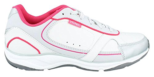 Vionic Zen - Womens Walking Shoes - Orthaheel White/Pink - 10 Medium