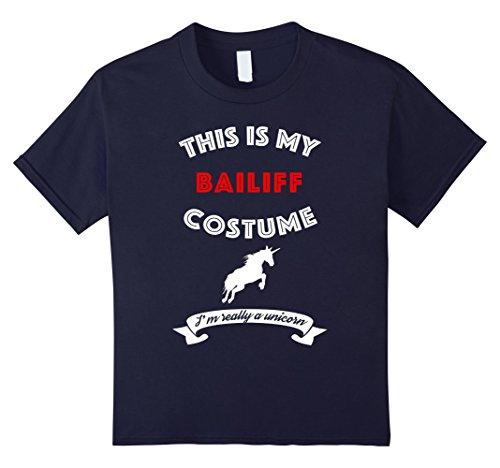 Kids This Is My Bailiff Costume I'm Really Unicorn T-Shirt 12 Navy - Bailiff Costume