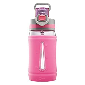 Bubba Flo Silicone Kids Water Bottle, 16 oz., Pink