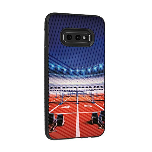 TurtleArmor | Compatible for Samsung Galaxy S10e Case | S10 Lite Case | G970 | Hard Shell Engraved Grooves Hybrid Fitted TPU Case Sports and Games Design - Track Race
