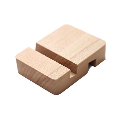 (Xinghan Cell Phone Stand Holder, Beech Wood Desk Phone Holder Bracket Single Double Slot Wooden Stand Holder for Smartphone)