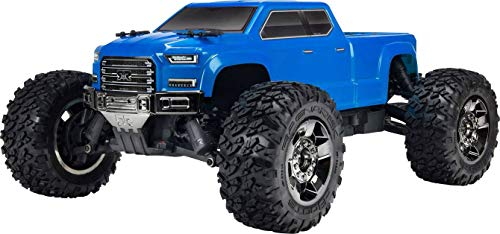 (ARRMA Big Rock Crew Cab 4x4 RC Monster Truck 3S BLX 4WD RTR with 2.4GHz Radio (Battery Not Included) 1:10 Scale, Blue)