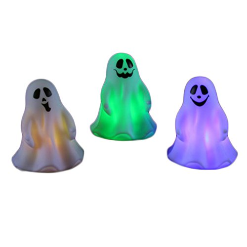 Veil Entertainment 3 Pack Color Changing Light-Up Halloween Ghosts 3.75