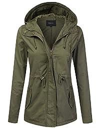 DRESSIS Women's Lightweight Military Safari Anorak Jacket Outwear