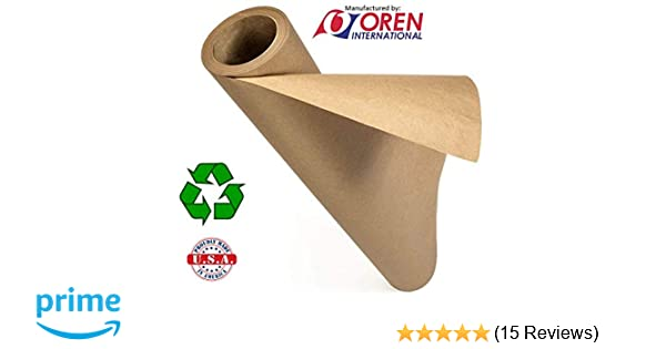 Made in USA from 100/% Recycled Materials │Perfect for Any Use Floor Covering White Kraft Paper Roll │ 48 x 200 Table Runner 48x200 Shipping Banners and Signs Wrapping
