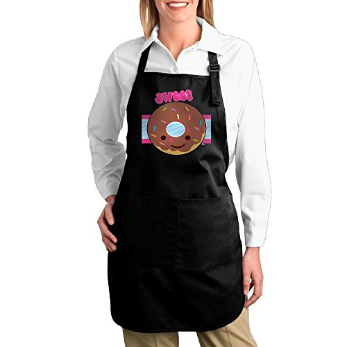 Joapron Sweet Sprinkle Donut Aprons For Cookroom Black Size One - Delivery Hut Pizza Ipswich