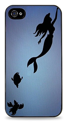 Trendy Accessories The Little Mermaid Princess Design Pattern Cover Black Silicone Case for iPhone 5 / 5S