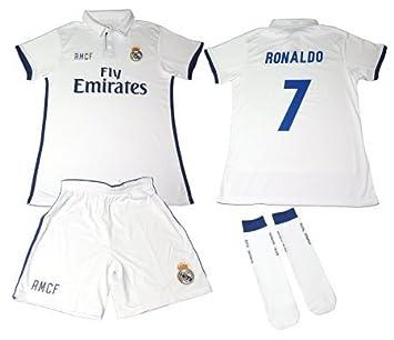 REAL MADRID Kit 1ª Equipación Infantil 2016-2017 b8292d8e9bdbe