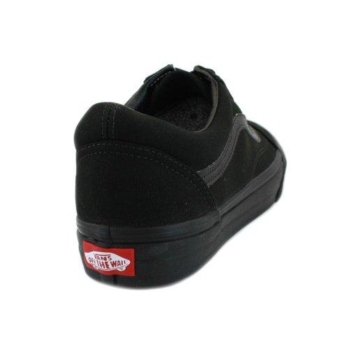 Vans Sneaker canvas Nero Black Skool Donna U Old suede black SwxpSqFgr