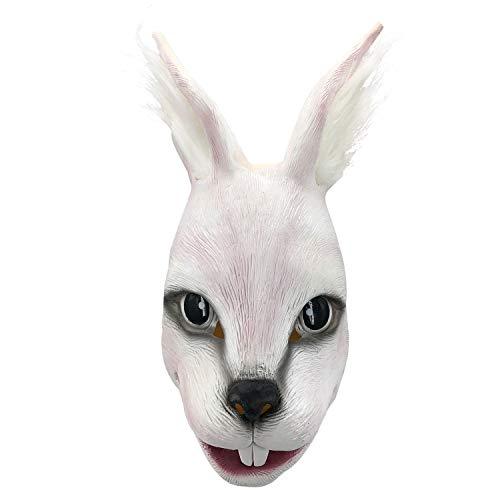 Cute Rabbit Mask,Halloween Latex Animal Head Mask Props