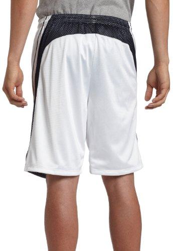 Giocatore da uomo 10 corto, bianco / blu scuro, medio