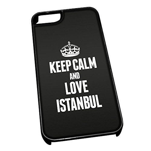 Nero cover per iPhone 5/5S 2341 nero Keep Calm and Love Istanbul