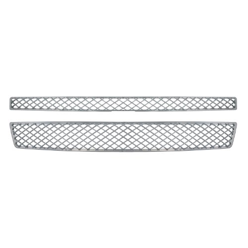 Bully  GI-33X Triple Chrome Plated ABS Snap-in Mesh Style Imposter Grille Overlay, 2 Piece