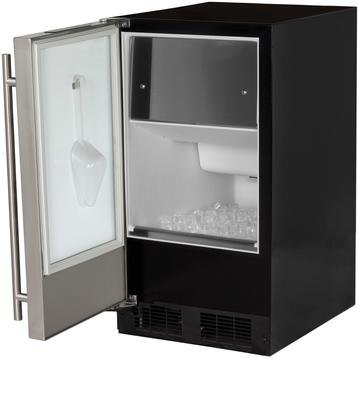 AGA Marvel 30IMA675 ADA Under Counter Ice Machine, Black Cabinet and Left Hinge Stainless Steel Door, 15-Inch
