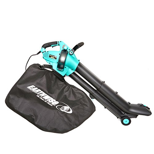 EarthWise FieldSmith by 12-Amp Corded 3-in-1 Wheeled Blower, Vacuum and Mulcher - Blue by EarthWise