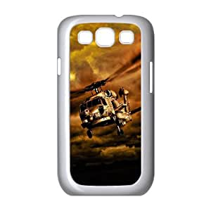 Samsung Galaxy S3 9300 Cell Phone Case White_War Helicopters In Cloudy Sky Lrukb