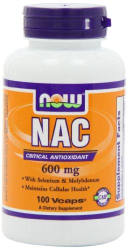 AHORA alimentos Nac-N-acetil cisteína 600mg, 100 Vcaps