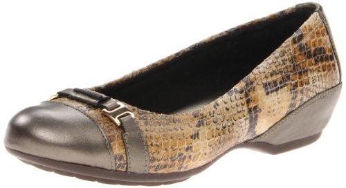 Aravon Women's Yvonne Flat, Size: 8 Width: D Color: Natural Snake