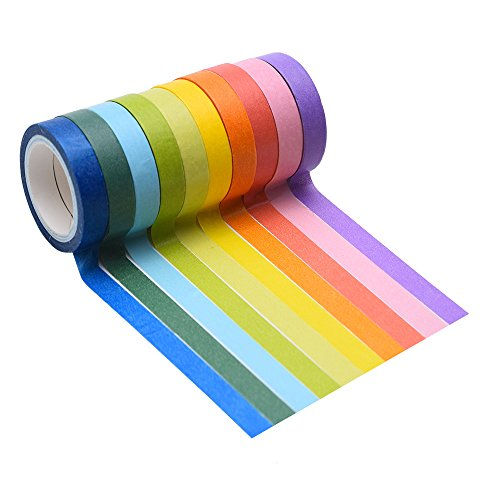Mudder 10 Rolls Decorative Washi Tape DIY Sticker