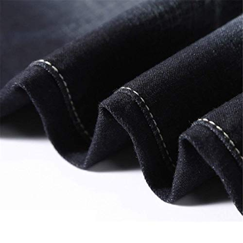 Jeans Fashion Casual Stretch Retro Denim Pants Men Chicos Loose Pants Pants Spring Clásico Negro Straight Men R Pants Jeans POrP78