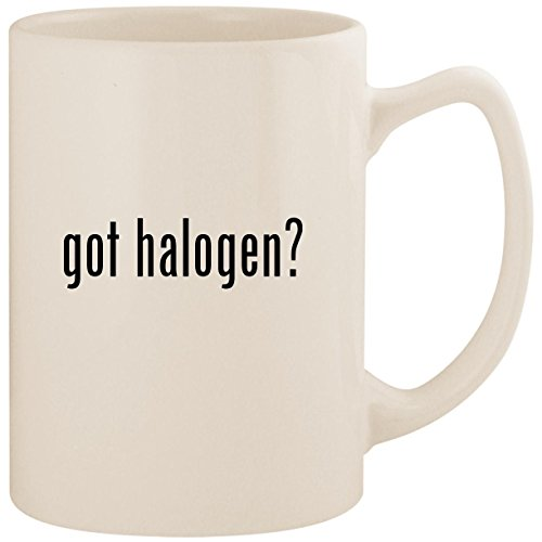 got halogen? - White 14oz Ceramic Statesman Coffee Mug Cup