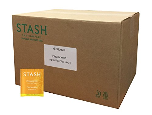Stash Tea Chamomile Herbal Tea 1000 Tea Bags in 6.3 Pound Box, Premium Herbal Tisane, Sweet Soothing Herbal Tea, Enjoy Chamomile Tea Hot or Iced, Ideal to Drink at Bedtime