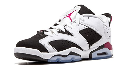 15b00583f944 Nike Air Jordan 6 Retro Low GG 768878-107 White Fuchsia Black Kids
