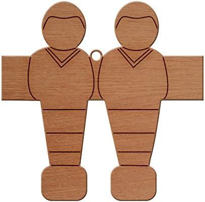 Diseño de futbolín de madera adorno de árbol de Navidad, para ...